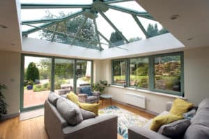 Orangery with glass ceiling