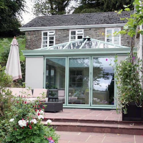 Orangery with outdoor patio