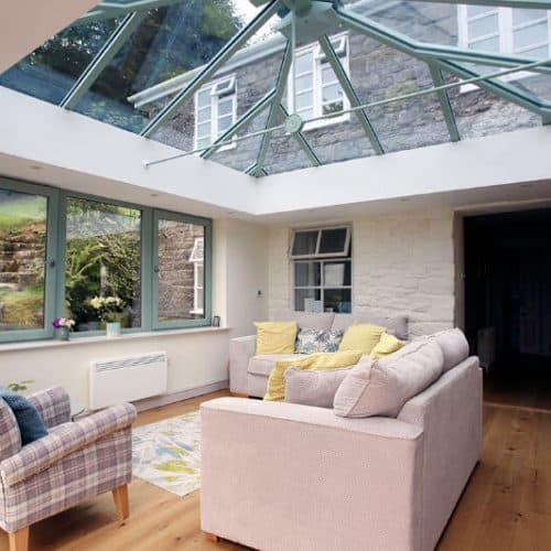 Orangery with wooden floor